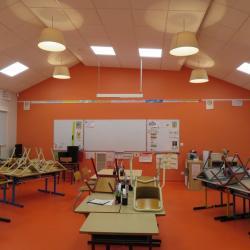 Une classe de l'extension de l'école élémentaire réalisée en 2017