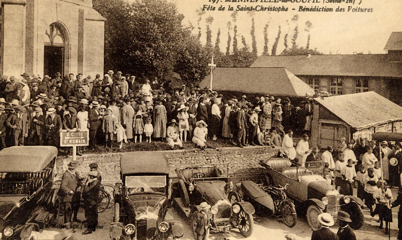 Bénédiction des voitures à la Saint Christophe