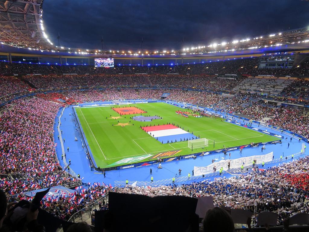 Stade drapeaux