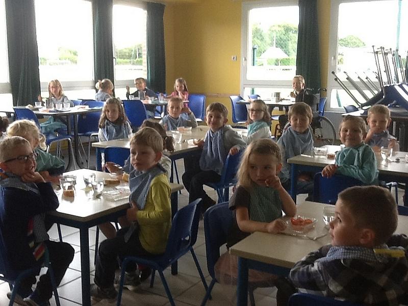 Les enfants au restaurant