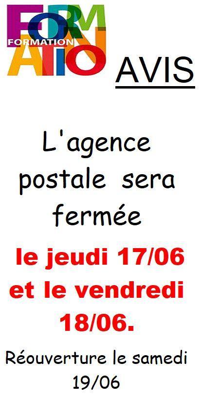 Fermeture agence postale 1